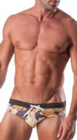 Geronimo Mens Swimwear Animal Low Rise Brief Trunks 1507s2 15072